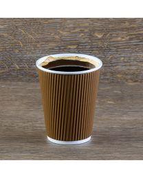 Χάρτινο καφέ γκοφρέ ποτήρι 12oz