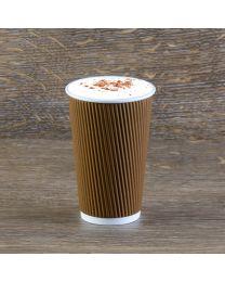 Χάρτινο καφέ γκοφρέ ποτήρι 16oz