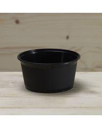 Μαύρο δοχείο για sauce 250ml με καπάκι